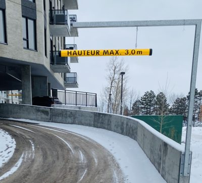 BA-TUB balise hauteur libre hauteur max