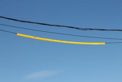 couvre fil jaune réfléchissant